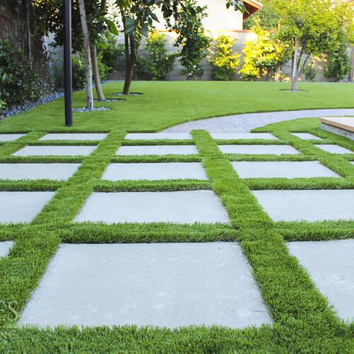Concrete Pavers and Artificial Turf
